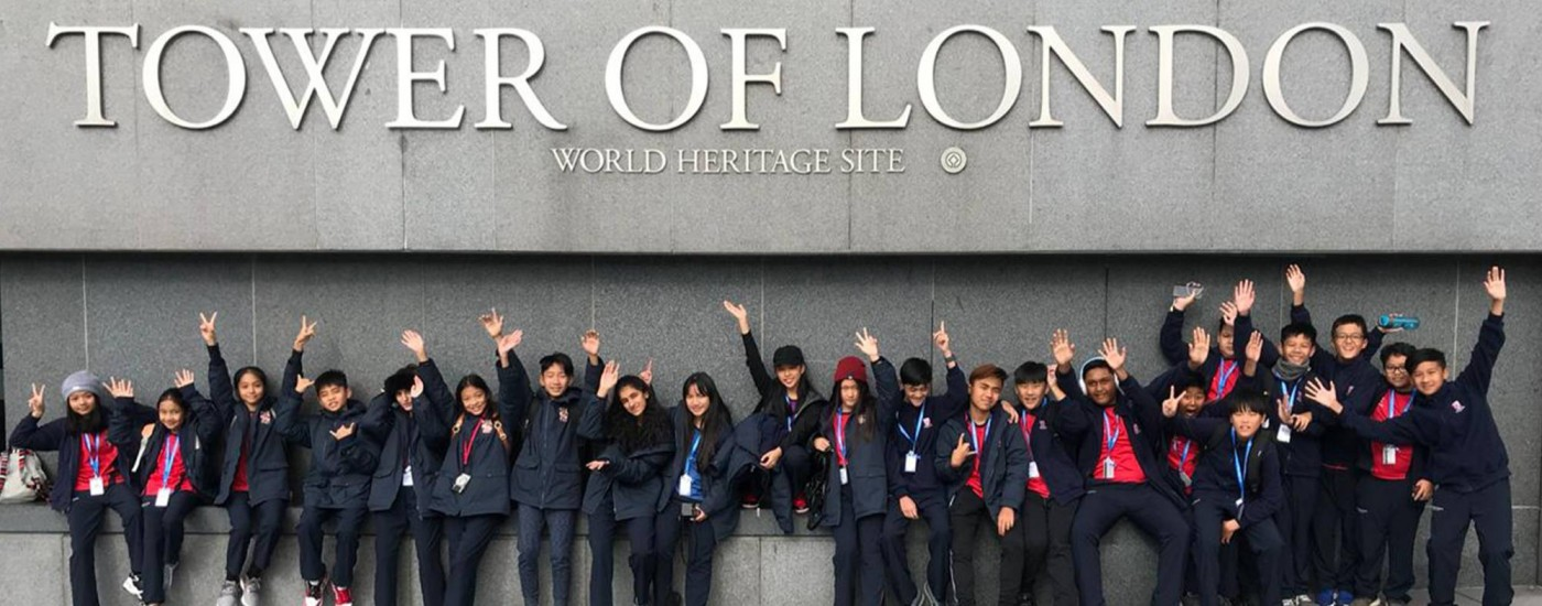DCY Students at Tower of London during Dulwich Olympiad